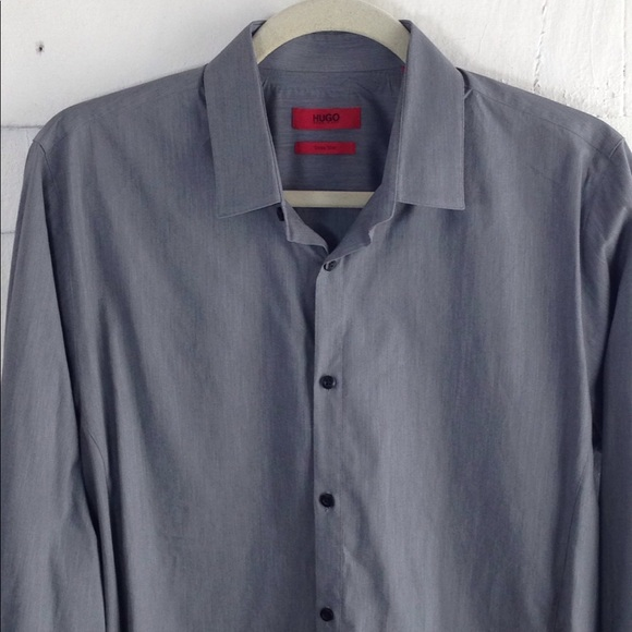 026189299 HUGO Shirts | Boss Extra Slim Fit Dress Shirt Large | Poshmark